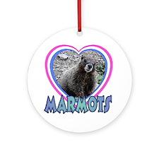I Love ( Heart ) Marmots Ornament (Round)