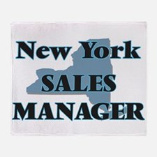 New York Sales Manager Throw Blanket
