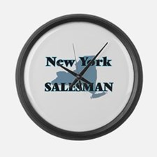 New York Salesman Large Wall Clock