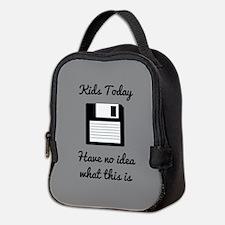 Funny Floppy Disk Neoprene Lunch Bag