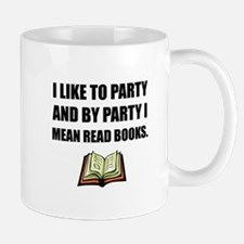 Party Read Books Mugs