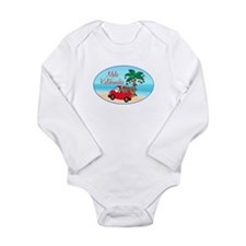 Funny Palm Long Sleeve Infant Bodysuit