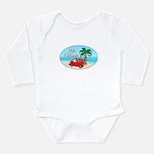 Unique Tropical christmas Long Sleeve Infant Bodysuit