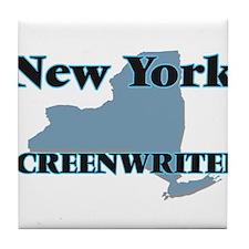 New York Screenwriter Tile Coaster
