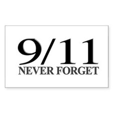 9/11 Never Forget Rectangle Decal
