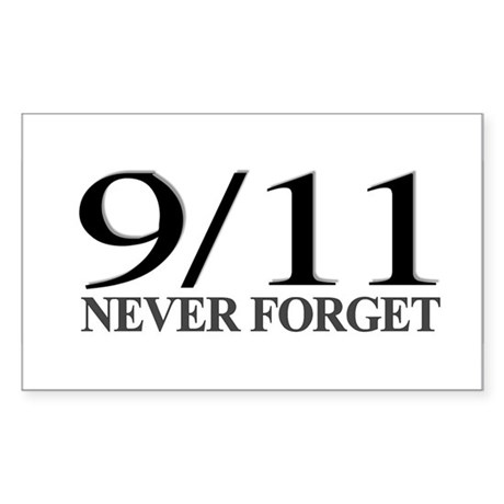 9/11 Never Forget Rectangle Sticker