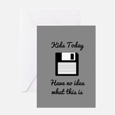 Funny Floppy Disk Greeting Cards