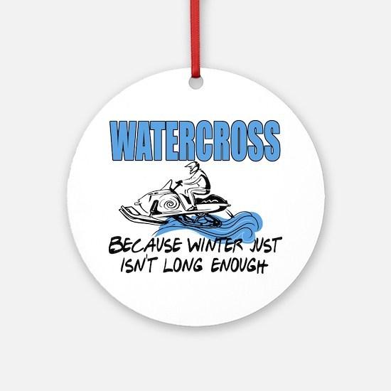 Watercross - Winter Ornament (Round)