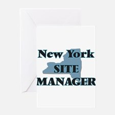 New York Site Manager Greeting Cards