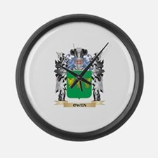 Owen Coat of Arms - Family Crest Large Wall Clock