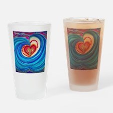 Cute Peace love curl Drinking Glass