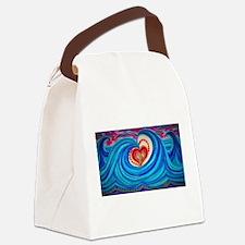 Ocean Lotus Canvas Lunch Bag