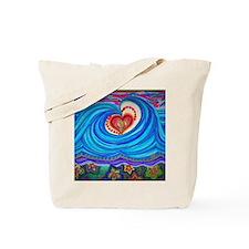 Unique Peace love curl Tote Bag