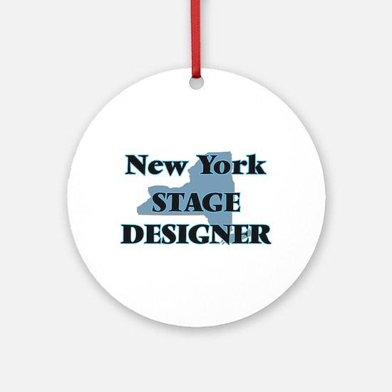 New York Stage Designer Round Ornament