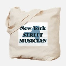New York Street Musician Tote Bag
