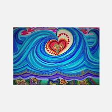 Ocean Lotus (floral bottom) Magnets