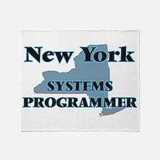 New York Systems Programmer Throw Blanket