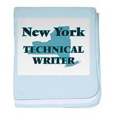 New York Technical Writer baby blanket