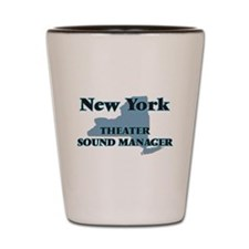 New York Theater Sound Manager Shot Glass