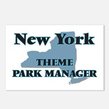 New York Theme Park Manag Postcards (Package of 8)