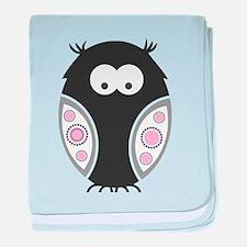 Halloween Owl baby blanket