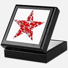 Red Star Vintage Keepsake Box