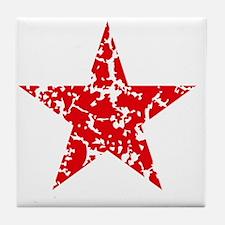Red Star Vintage Tile Coaster