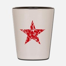 Red Star Vintage Shot Glass