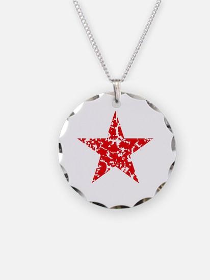 Red Star Vintage Necklace