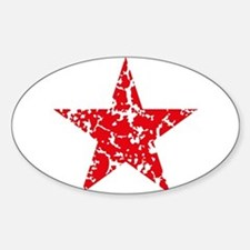 Red Star Vintage Decal