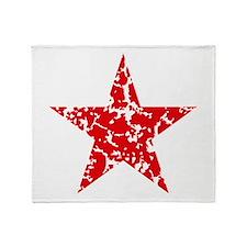 Red Star Vintage Throw Blanket