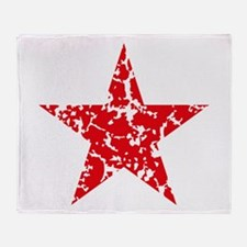 Red Star Vintage Throw Blanket