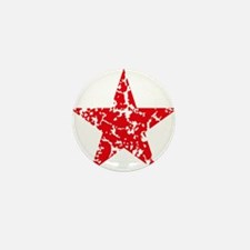 Red Star Vintage Mini Button (10 pack)