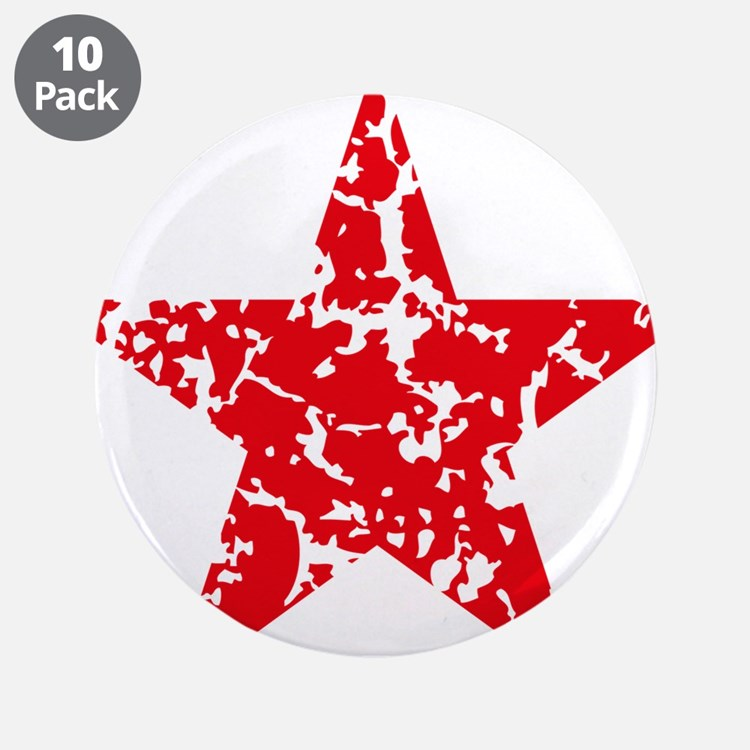 """Red Star Vintage 3.5"""" Button (10 pack)"""