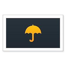 Orange Yellow Umbrella Black Decal