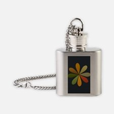 Cute Bright Flower Flask Necklace