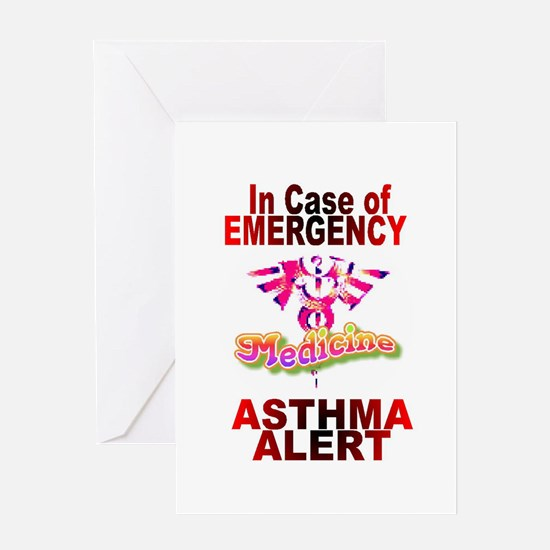 ASTHMA - medical alert Greeting Card
