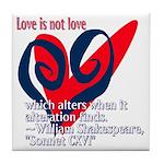 Love Shakespeare Tile Coaster
