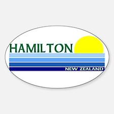 Hamilton, New Zealand Oval Decal