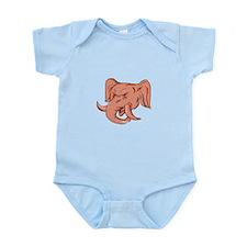 Republican Elephant Mascot Head Etching Body Suit
