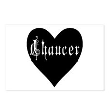 heartchaucer.png Postcards (Package of 8)