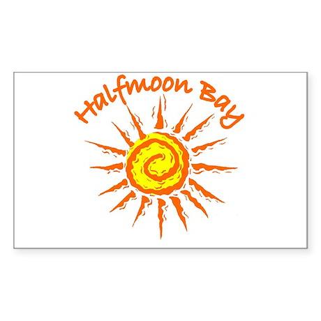 Halfmoon Bay Rectangle Sticker