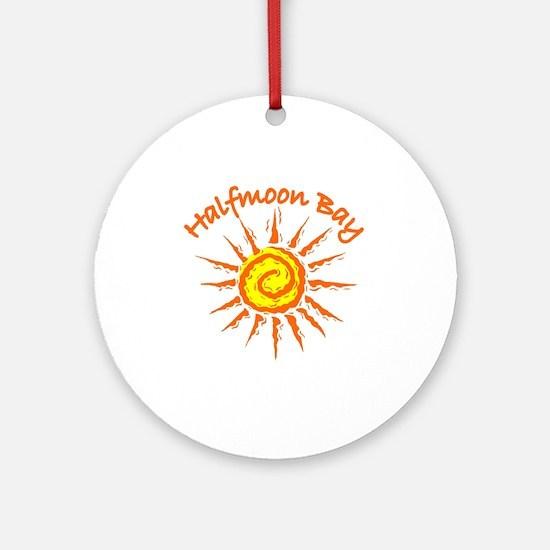 Halfmoon Bay Ornament (Round)