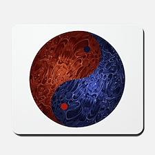 Blue Red Demon Yin Yang Mousepad