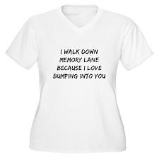 I Walk Down Memory Lane Plus Size T-Shirt