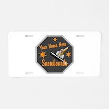 Snowboard Shop Aluminum License Plate