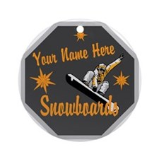 Snowboard Shop Round Ornament