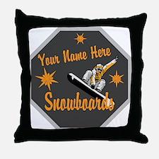 Snowboard Shop Throw Pillow