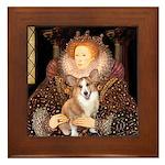 The Queen's Corgi Framed Tile