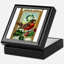 Christmas Robin Keepsake Box